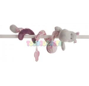 Espiral sonajero Hippo rosa