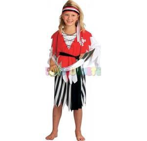 Disfraz pirata falda 7-10 años
