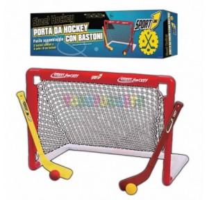 Portería hockey con sticks...