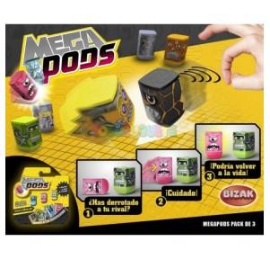 Megapods pack de 3 personajes