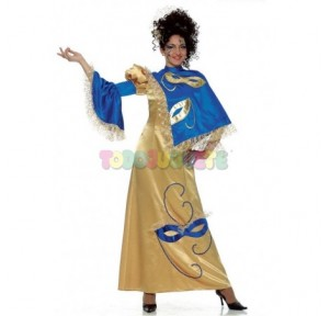 Disfraz Miss Venecia oro...