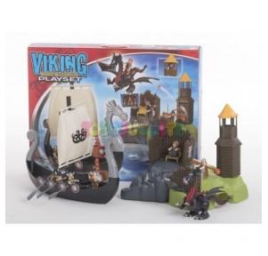 Barco Vikingo con Isla y...