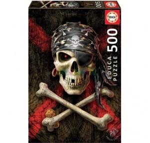 Puzzle 500 Calavera Pirata
