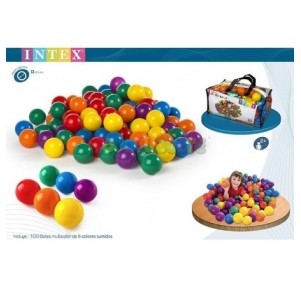 Bolsa 100 bolas colores...