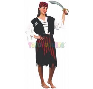 Disfraz pirata chica rayas...