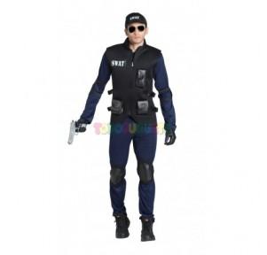 Disfraz policia Swat Adulto...