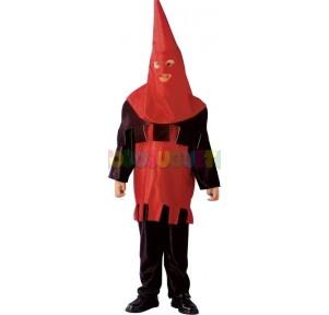 Disfraz verdugo rojo negro...