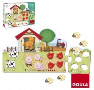 Puzzle madera 1-5 Goula
