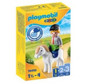 1.2.3 Niño con poni Playmobil