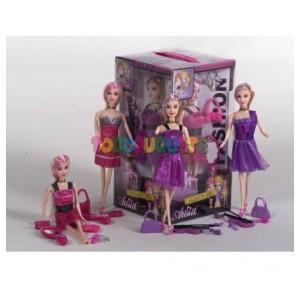 4 muñecas con vestidos y...