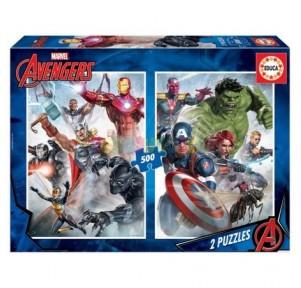 Puzzle 2x500 Marvel Mania