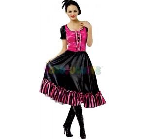 Disfraz Saloon girl oeste...