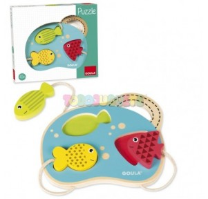 Puzzle madera peces Goula