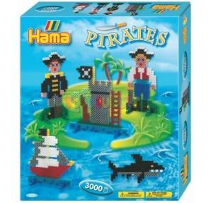 Hama beads caja regalo piratas