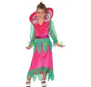 Disfraz Rosa Flor 7-10 años