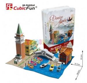 Puzzle 3d puente venecia...