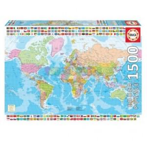 Puzzle 1500 Mapamundi Político