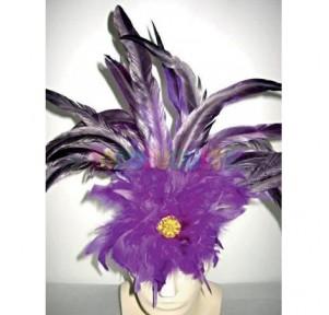Cinta pelo ancha con plumas...