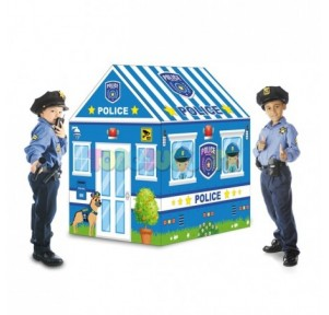 Casita tela Policía con 50...