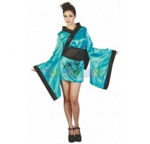 Disfraz china kimono azul...