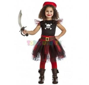 Disfraz pirata con falda...