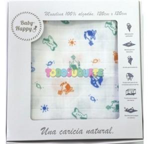 Muselina 120x120 Baby Happy