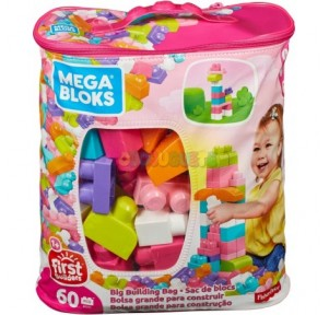 Bolsa 60 piezas rosa Megabloks