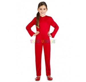 Disfraz mono color rojo 7-9...