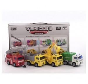 4 camiones servicios...