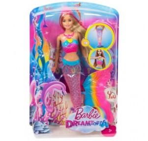 Muñeca Barbie Sirena Luces...