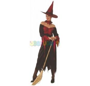 Disfraz Bruja rojo-negro...