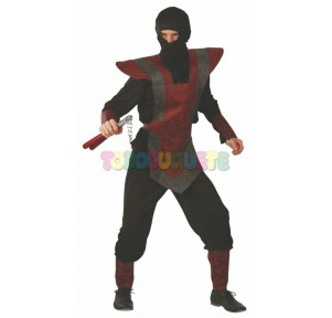 Disfraz Ninja rojo-negro...