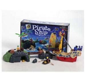 Set barco pirata con isla 4...