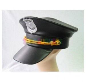 Gorra Policía negra con...
