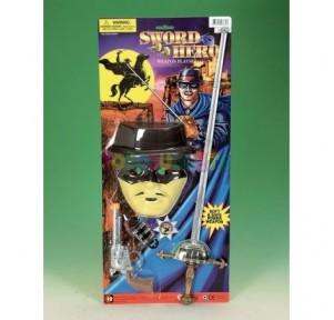 Careta Zorro + pistola +...