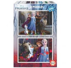 Puzzle 2x100 Frozen 2
