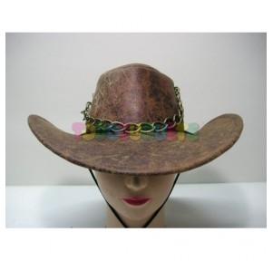 Sombrero Cowboy piel con...