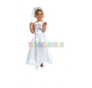 Disfraz Barbie Novia T.1...