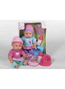 Muñeco Bebé con Orinal + Biberón Bebe y Hace Pipí