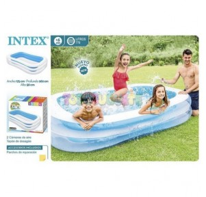 Piscina hinchable rectangular 262x175x56