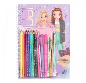 Top Model Libro para Colorear + set lápices