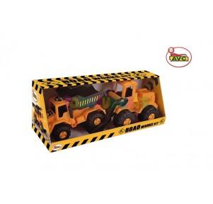 Set Camion+Excavadora Road Work 60cm caja AVC