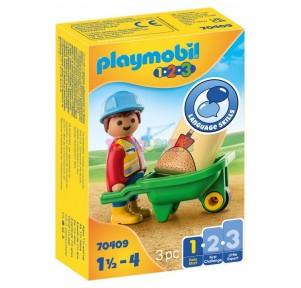 1.2.3 Obrero con carretilla Playmobil