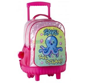 Pulpito Save The Ocean Mochila Compact