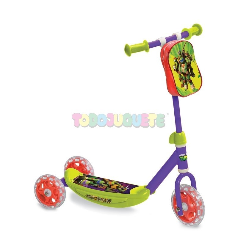 Primer patinete 3 ruedas Tortugas Ninja